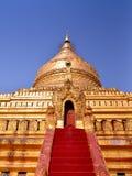 Pagoda de Shwezigon en Bagan, Myanmar Imagen de archivo