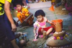 Pagoda de Songkran foto de archivo libre de regalías