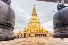 Pagoda de Sriwiengchai chez Wat Phra Bat Huai Tom images libres de droits