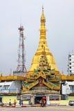 Pagoda de Sule, Yangon, Myanmar Image stock