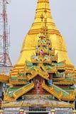 Pagoda de Sule, Yangon, Myanmar Photographie stock libre de droits