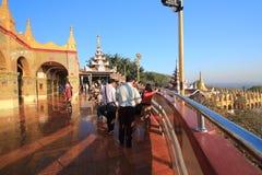Pagoda de Sutaungpyei de la colina de Birmania Mandalay Imagen de archivo libre de regalías