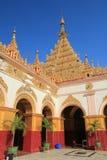 Pagoda de Sutaungpyei de la colina de Mandalay Fotografía de archivo