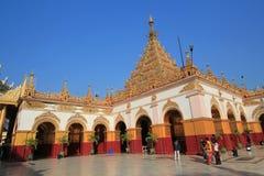 Pagoda de Sutaungpyei en colline Birmanie de Mandalay Images stock