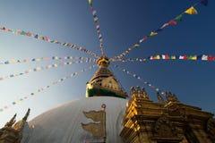 Pagoda de Swayambhunath em Nepal Fotos de Stock