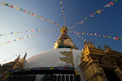Pagoda de Swayambhunath em Nepal imagem de stock royalty free