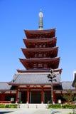 Pagoda de temple de Senso-JI, Tokyo photos stock