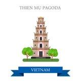 Pagoda de Thien MU en el viaje de la atracción de Vietnam que hace turismo libre illustration