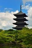 Pagoda de Toji Fotografia de Stock