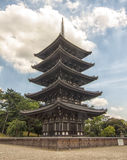 Pagoda de Toji em Kyoto, Japão. Imagem de Stock Royalty Free