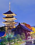 Pagoda de Toji en Kyoto fotos de archivo
