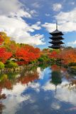 Pagoda de Toji en Kyoto, Japón fotografía de archivo libre de regalías