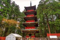 Pagoda de Toshogu, Nikko, Japon images libres de droits