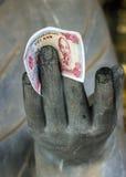 Pagoda de Vietnam Chua Bai Dinh: Ciérrese para arriba del filósofo budista Fotografía de archivo
