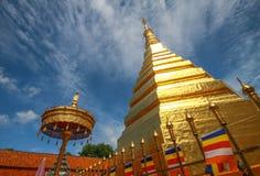Pagoda de Wat Phrathat Chohae, Prae, Thaïlande Image stock