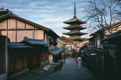 Pagoda de Yasaka photo stock