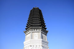 Pagoda del ?? della costruzione del punto scenico Immagine Stock Libera da Diritti