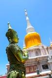 Pagoda del dun del Na a Maha Sarakham in Tailandia fotografia stock libera da diritti