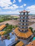Pagoda del estilo chino en Wat Tham Khao Noi Fotos de archivo libres de regalías