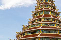 Pagoda del kang di pla di Wat Hyua Immagini Stock Libere da Diritti