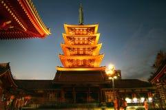 Pagoda del tempiale di Senso-ji, Asakusa, Tokyo, Giappone Fotografia Stock Libera da Diritti