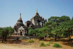 Pagoda del tempio di Thatbinnyu in Bagan Myanmbar Burma immagini stock libere da diritti