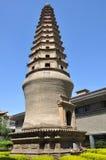 Pagoda del templo de Baiyi Fotografía de archivo