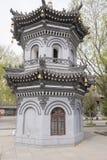 Pagoda del templo de Jiliesi, del día del color histórico chino gris al aire libre Fotos de archivo libres de regalías