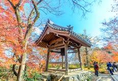 Pagoda del templo de Jojakkoji en Arashiyama, Japón Imagen de archivo