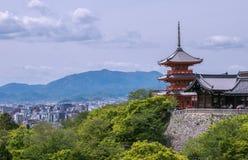 Pagoda del templo de Kiyomizu-dera Fotos de archivo libres de regalías