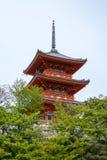 Pagoda del templo de Kiyomizu-dera Imagen de archivo libre de regalías