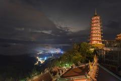Pagoda del templo de la montaña de Genting fotografía de archivo libre de regalías