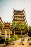 Pagoda del templo de Tran Quoc en Hanoi, Vietnam, filtro retro Fotografía de archivo libre de regalías