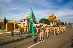 Pagoda dell'argento di Royal Palace di festa dell'indipendenza della Cambogia Immagini Stock Libere da Diritti