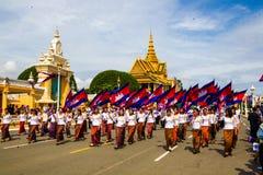 Pagoda dell'argento di Royal Palace di festa dell'indipendenza della Cambogia Fotografia Stock