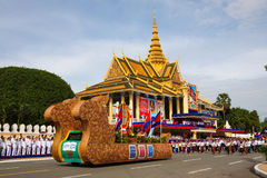 Pagoda dell'argento di Royal Palace di festa dell'indipendenza della Cambogia Fotografia Stock Libera da Diritti