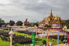 Pagoda dell'argento di Royal Palace di festa dell'indipendenza della Cambogia Fotografie Stock
