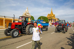 Pagoda dell'argento di Royal Palace di festa dell'indipendenza della Cambogia Fotografie Stock Libere da Diritti