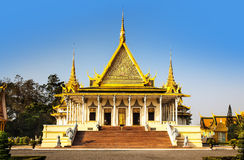 Pagoda dell'argento e di Royal Palace (il corridoio) del trono, Phnom Penh, no Immagine Stock