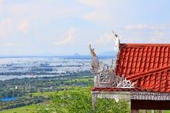 Pagoda dell'Unione Sovietica Taung Pyai e fiume di Irrawaddy, Mandalay, Myanmar immagini stock