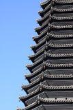 Pagoda della costruzione del punto scenico Fotografia Stock Libera da Diritti