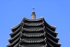 Pagoda della costruzione del punto scenico Fotografie Stock