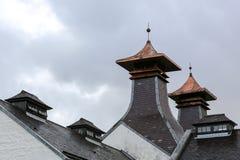 Pagoda della distilleria del whiskey immagine stock