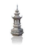 Pagoda della pietra decorativa Fotografia Stock Libera da Diritti