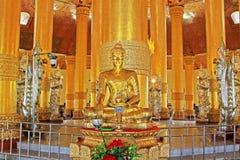 Pagoda della reliquia del dente di Buddha, Rangoon, Myanmar Fotografia Stock Libera da Diritti