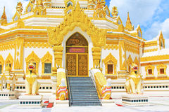 Pagoda della reliquia del dente di Buddha, Rangoon, Myanmar Fotografia Stock