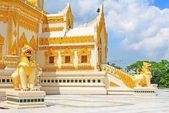 Pagoda della reliquia del dente di Buddha, Rangoon, Myanmar Immagini Stock Libere da Diritti