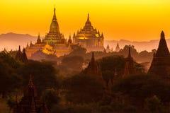 Pagoda di Ananda al crepuscolo Fotografia Stock