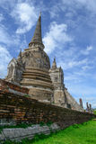 Pagoda di Ayutthaya fotografie stock