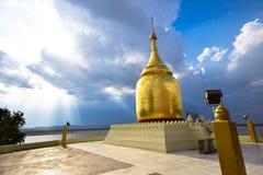 Pagoda di Bupaya, pagoda dorata in Bagan, Myanmar immagine stock libera da diritti